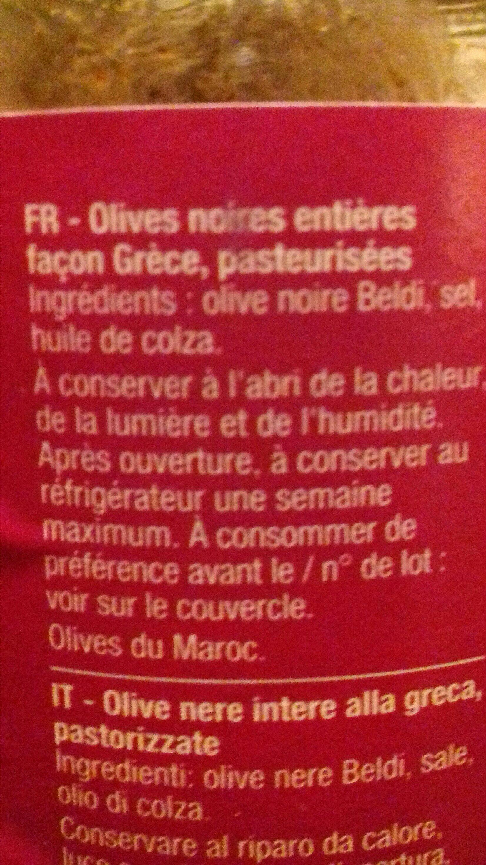 Olives noires à la grecques - Ingrédients - fr