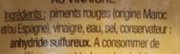 Piments rouges - Ingrédients - fr