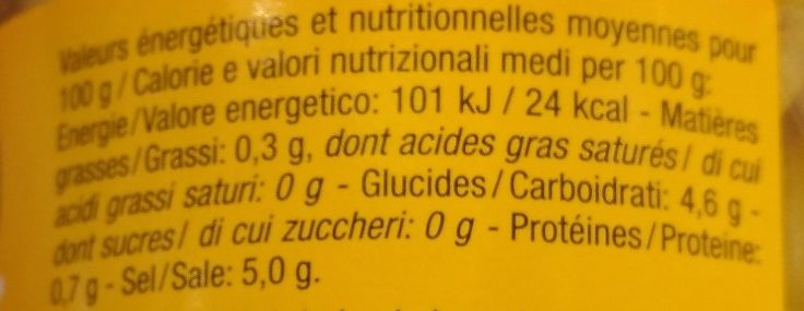 Petits Piments Forts - Informations nutritionnelles - fr