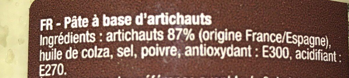 Creme D'artichauts - Ingrédients - fr