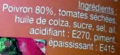 Crème de poivrons - Ingrédients
