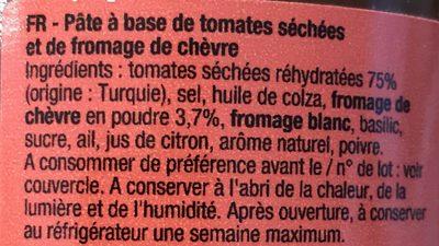 Delice de tomates sechees - Ingrédients - fr