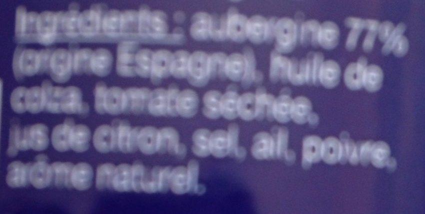 Caviar d'Aubergines - Ingrédients - fr