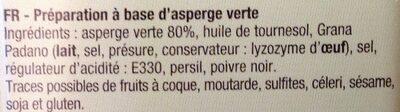Bruschetta d'asperges - Ingrédients - fr