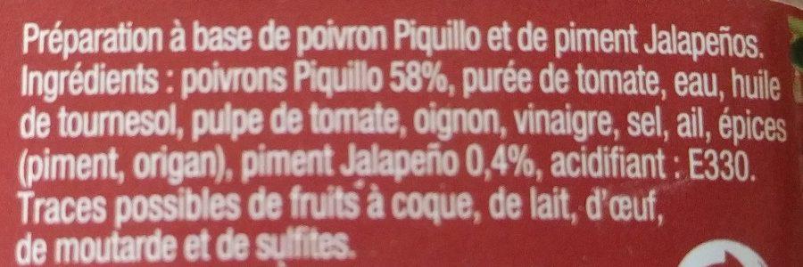Bruschetta poivrons et piments - Ingrédients - fr