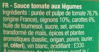 sauce napolitaine - Ingrédients - fr