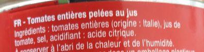 Tomates entières pelées - 5