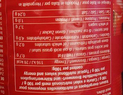 Tomates entières pelées - Informations nutritionnelles