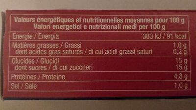Double concentré de tomate - Informations nutritionnelles - fr