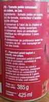Pulpe de tomate en dés - Inhaltsstoffe - fr