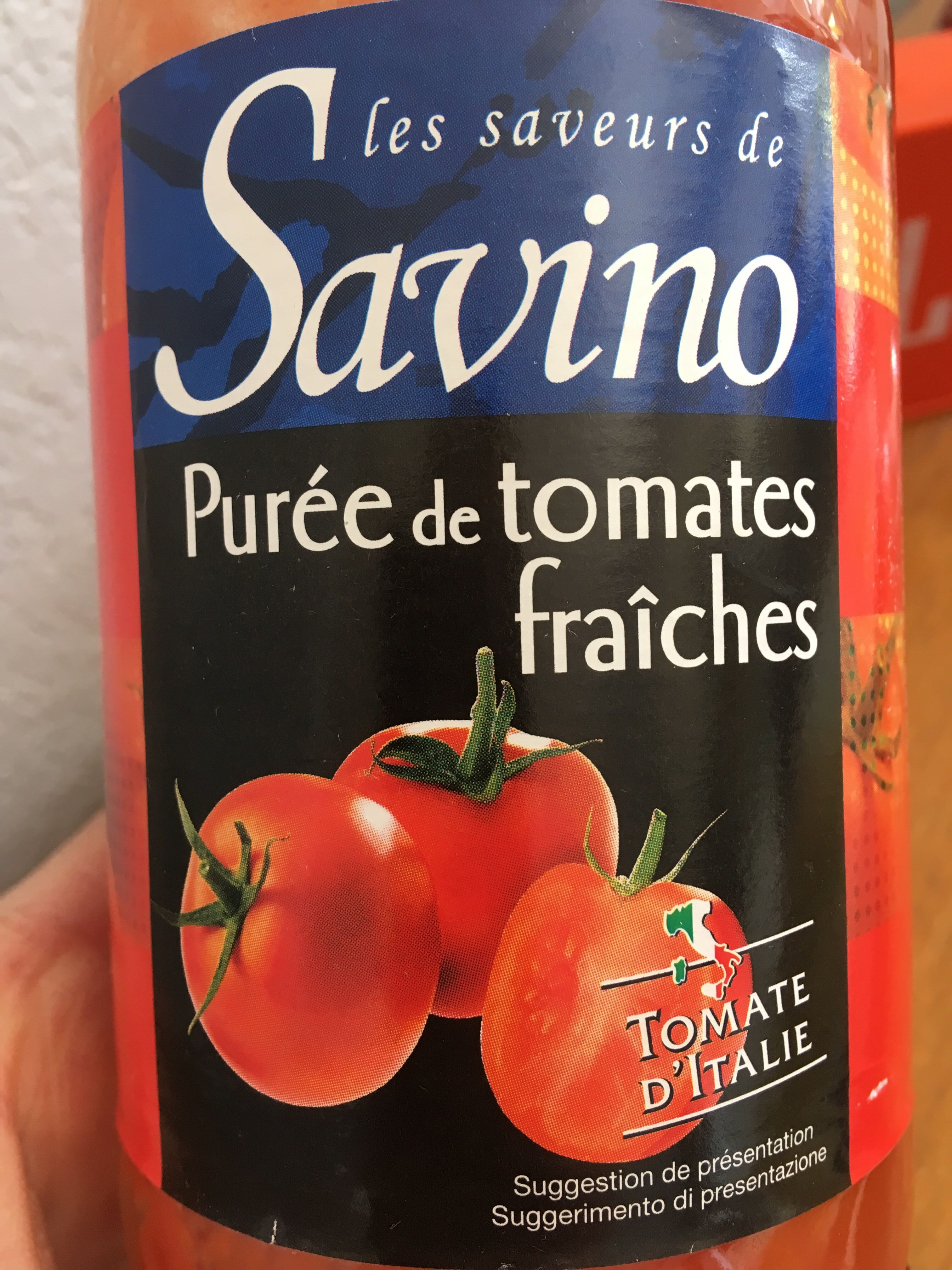 Purée de tomate fraîches - Produit - fr