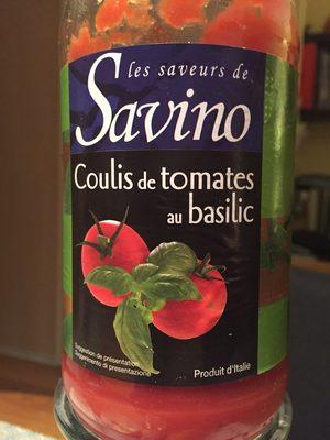 Coulis de tomates au basilic - Produit