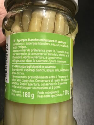 Asperges blanches miniatures - Ingredients - fr