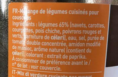 Legumes pour couscous - Ingredientes
