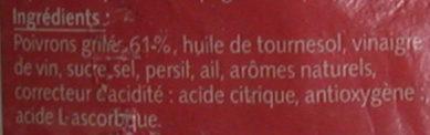 Poivrons grillés à l'huile - Ingrédients