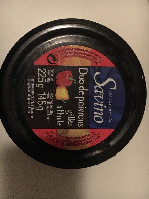 Duo de poivrons grillés à l'huile - Produit - fr