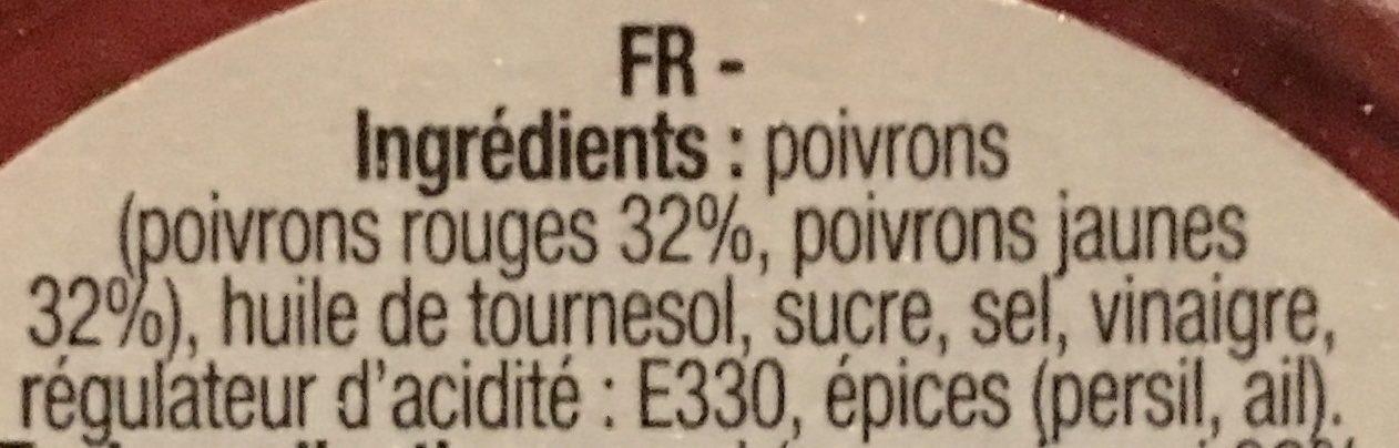 Duo de poivrons grillés à l'huile - Ingrédients - fr