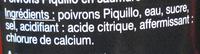 Poivrons piquillo - Ingrédients - fr