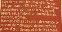 Velouté De Potiron Et Potimarron - Ingrédients - fr