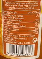 Velouté De Potiron Et Potimarron - Informations nutritionnelles - fr