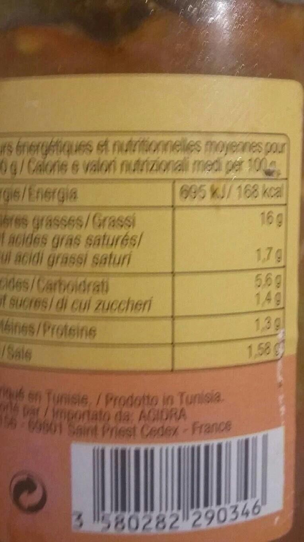 Chakchouka - Informations nutritionnelles - fr