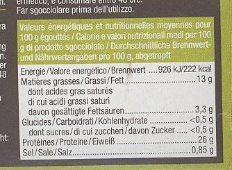 Sardines à l'huile d'olive - Nutrition facts