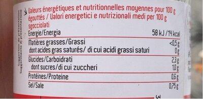 Légumes pour wok - Informations nutritionnelles - fr