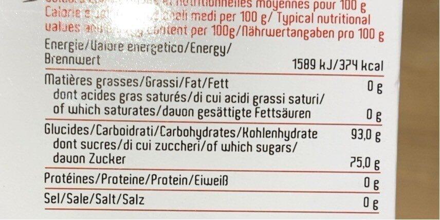 Gingembre Deshydraté Chao'an - Informations nutritionnelles - fr