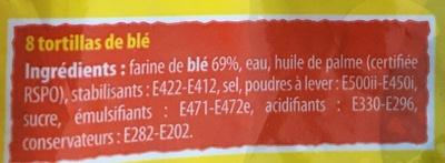 Tortillas de blé - Ingredienti - fr