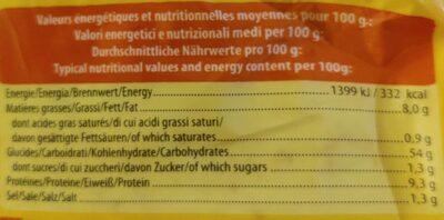 Tortillas de blé - Valori nutrizionali - fr