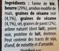 Feuilletés apéritifs au pavot - Ingrediënten