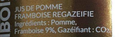 Petillant pomme framboise - Ingrédients - fr