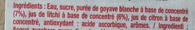 Boisson à la goyave blanche et au litchi - Ingrédients - fr