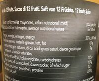 Pur Jus Multifruits - Informations nutritionnelles - fr