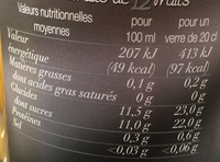 Pur Jus Multifruits - Nutrition facts - fr