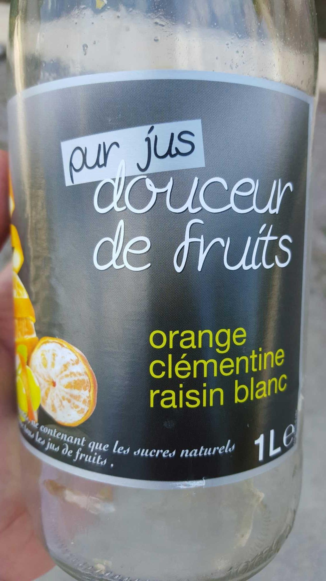 Pur Jus Douceur de Fruits Orange Clémentine Raisin Blanc - Product