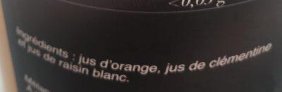 Pur Jus Douceur de Fruits Orange Clémentine Raisin Blanc - Ingredients