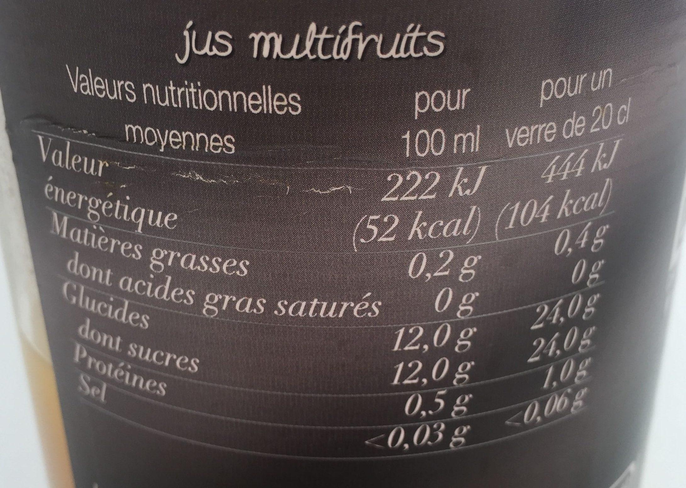 Douceur de Fruits - Informations nutritionnelles