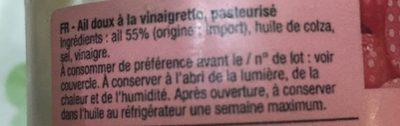 Ail doux à la vinaigrette - Ingrédients - fr
