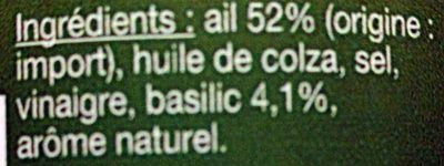 Ail doux au basilic - Ingrédients - fr