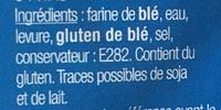 Pitas - Ingrédients - fr