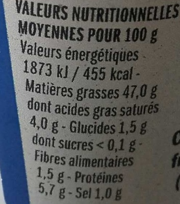 Brandade de morue de Nîmes - Nutrition facts