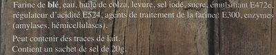 Bretzels Tradition - Ingredients