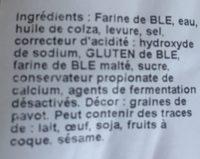 Lot de 3 Moricettes Pavot - Ingredients - fr