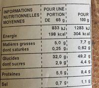 Lot de 3 Moricettes Pavot - Nutrition facts - fr