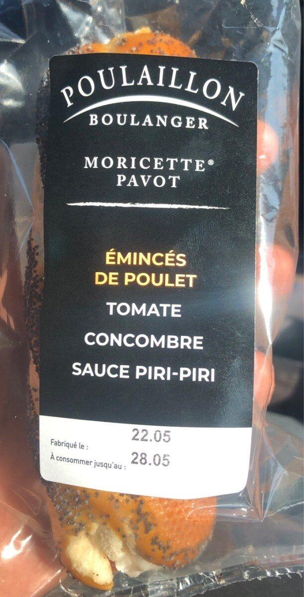 Moricette pavot poulet - Product - fr
