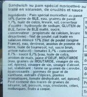 Moricette pavot poulet - Ingredients - fr