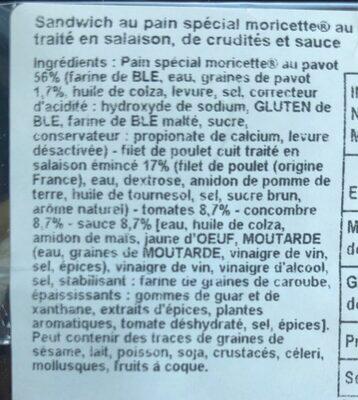 Moricette pavot poulet - Ingredients