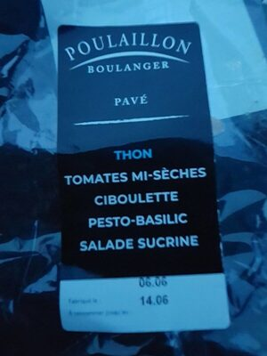 Pavé Thon, tomates, ciboulette, pesto, sucrine - Product - fr