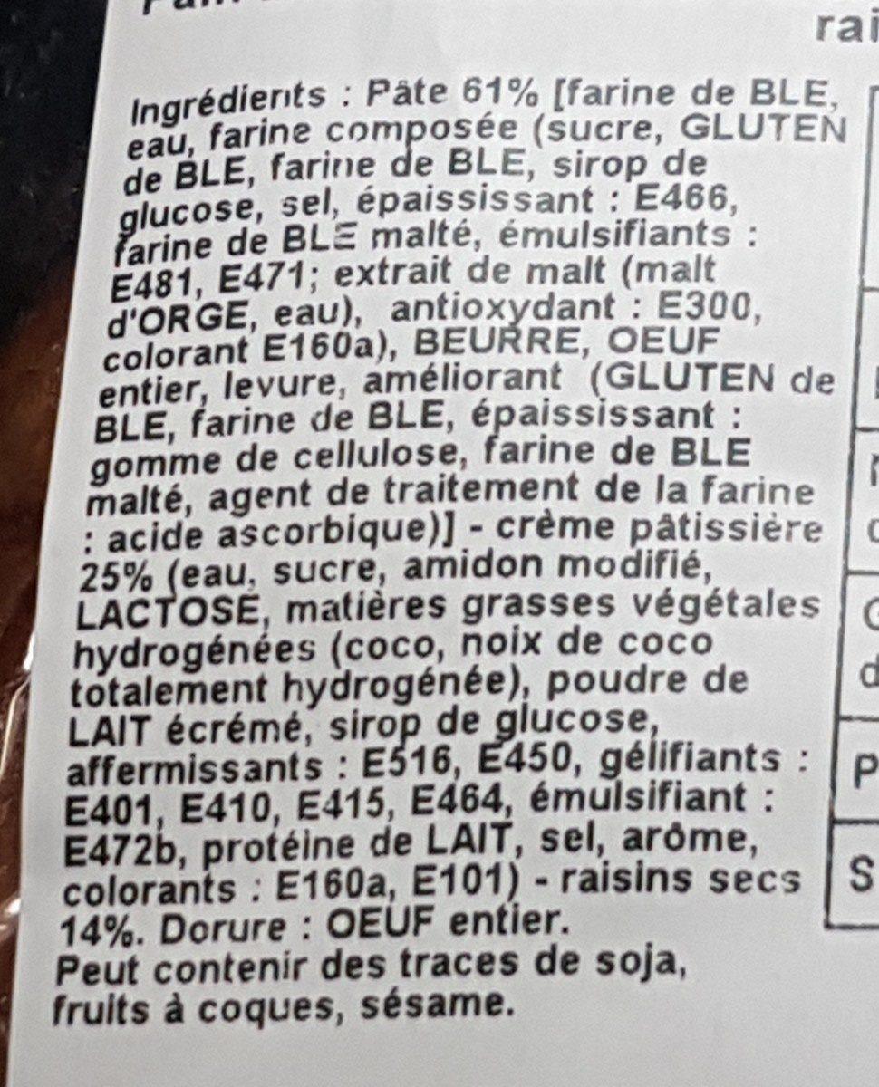 Petit pain aux raisins - Ingrédients - fr